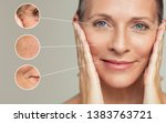 close ups of wrinkles and skin... | Shutterstock . vector #1383763721
