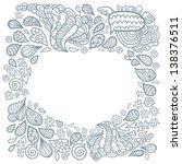 cute cartoon doodle frame.... | Shutterstock .eps vector #138376511