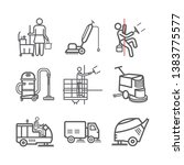 cleaning service line icons.... | Shutterstock .eps vector #1383775577