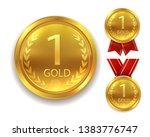 realistic award medal. winner...   Shutterstock .eps vector #1383776747