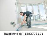 house under construction....   Shutterstock . vector #1383778121