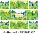 vector nature eco backgrounds... | Shutterstock .eps vector #1383780587
