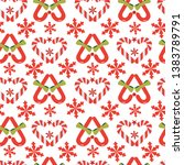 beautiful christmas candy stick ... | Shutterstock .eps vector #1383789791