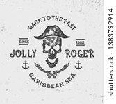 """jolly roger"". vintage textured ...   Shutterstock .eps vector #1383792914"