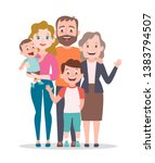 family portrait. mother  father ... | Shutterstock .eps vector #1383794507