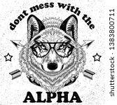 alpha wolf dog illustration... | Shutterstock .eps vector #1383800711