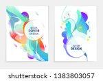 set of designs for flyer ... | Shutterstock .eps vector #1383803057