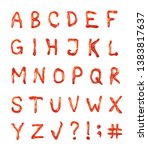 full set of latin abc alphabet... | Shutterstock . vector #1383817637