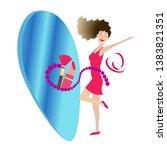 pop art   flat style. fashion...   Shutterstock .eps vector #1383821351