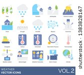 weather icons including haze ... | Shutterstock .eps vector #1383828167