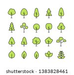 big collection tree. tree line... | Shutterstock .eps vector #1383828461