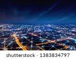 modern city with wireless... | Shutterstock . vector #1383834797