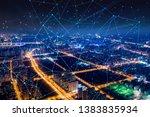 modern city with wireless... | Shutterstock . vector #1383835934