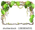 liana branches and tropical... | Shutterstock .eps vector #1383836531