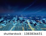 modern city with wireless... | Shutterstock . vector #1383836651