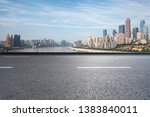 panoramic skyline with empty...   Shutterstock . vector #1383840011