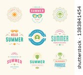 summer holidays labels and... | Shutterstock .eps vector #1383841454