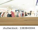 empty wooden table space... | Shutterstock . vector #1383843044