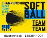 softball championship...   Shutterstock .eps vector #1383844004