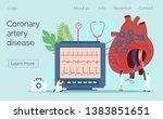 modern heart medication... | Shutterstock .eps vector #1383851651