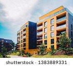 modern european residential... | Shutterstock . vector #1383889331