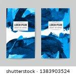 set of vector business card... | Shutterstock .eps vector #1383903524
