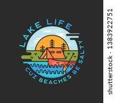 lake life logo design. modern... | Shutterstock .eps vector #1383922751