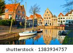 city river canal water... | Shutterstock . vector #1383934757