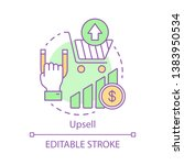 upsell concept icon. sale... | Shutterstock .eps vector #1383950534