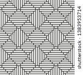 vector seamless geometric... | Shutterstock .eps vector #1383953714