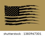 vector distressed american flag ... | Shutterstock .eps vector #1383967301