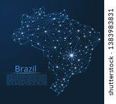 brazil communication network... | Shutterstock .eps vector #1383983831