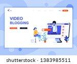 modern flat web page design... | Shutterstock .eps vector #1383985511
