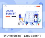 modern flat web page design... | Shutterstock .eps vector #1383985547