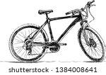 a sketch of a bike for walks | Shutterstock .eps vector #1384008641