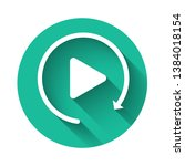 white video play button like... | Shutterstock .eps vector #1384018154