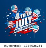 banner with balloons for... | Shutterstock . vector #1384026251