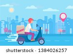 fast and free scooter delivery...   Shutterstock . vector #1384026257