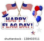 american flag day stickers.... | Shutterstock . vector #138403511