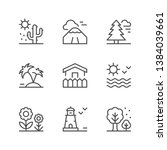 set line icons of landscape | Shutterstock .eps vector #1384039661