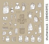 collection of eco friendly... | Shutterstock .eps vector #1384043951