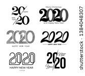 big set of 2020 text design... | Shutterstock .eps vector #1384048307
