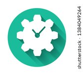 white time management icon... | Shutterstock .eps vector #1384049264