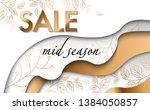 vector advertising banner with... | Shutterstock .eps vector #1384050857