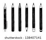 set of pencil doodle | Shutterstock .eps vector #138407141