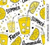 seamless pattern with lemonade  ... | Shutterstock .eps vector #1384082567
