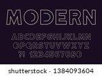 modern sport line font... | Shutterstock .eps vector #1384093604