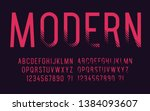 modern font with shadow... | Shutterstock .eps vector #1384093607