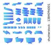 vector set of ribbons modern... | Shutterstock .eps vector #1384096001