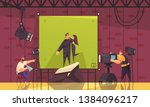 cinema comedy fantasy romance... | Shutterstock .eps vector #1384096217